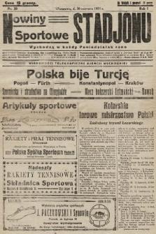 Nowiny Sportowe Stadjonu. 1924, nr20
