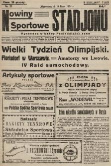 Nowiny Sportowe Stadjonu. 1924, nr22