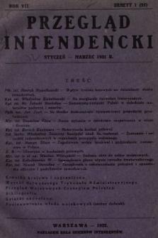 Przegląd Intendencki : kwartalnik wydawany staraniem Koła Oficerów Intendentów. 1932, nr1