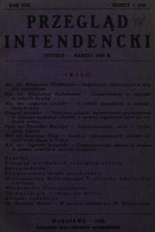 Przegląd Intendencki : kwartalnik wydawany staraniem Koła Oficerów Intendentów. 1933, nr1