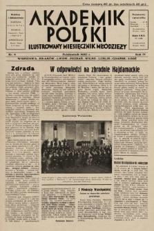 Akademik Polski : ilustrowany miesięcznik młodzieży. 1930, nr9