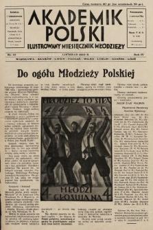 Akademik Polski : ilustrowany miesięcznik młodzieży. R. 4, 1930, nr10