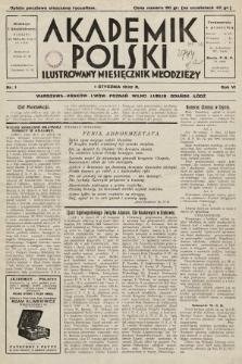 Akademik Polski : ilustrowany miesięcznik młodzieży. 1932, nr1