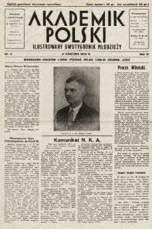 Akademik Polski : ilustrowany miesięcznik młodzieży. R. 6, 1932, nr6