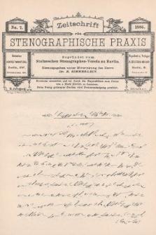 Zeitschrift für Stenographische Praxis. Jg 3, 1886, no.7