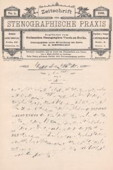 Zeitschrift für Stenographische Praxis. Jg 3, 1886, no.8