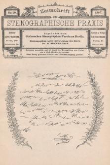 Zeitschrift für Stenographische Praxis. Jg 3, 1887, no.10