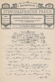 Zeitschrift für Stenographische Praxis. Jg 3, 1887, no.12