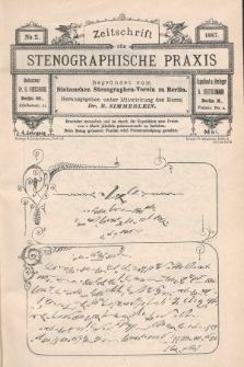 Zeitschrift für Stenographische Praxis. Jg 4, 1887, no.2