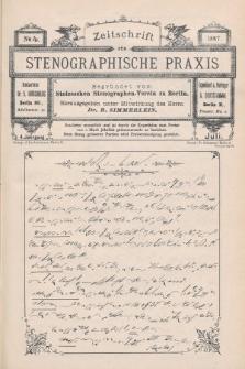 Zeitschrift für Stenographische Praxis. Jg 4, 1887, no.4