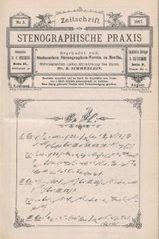 Zeitschrift für Stenographische Praxis. Jg 4, 1887, no.5