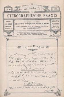 Zeitschrift für Stenographische Praxis. Jg 4, 1888, no.10