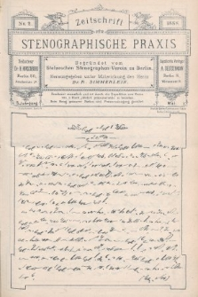 Zeitschrift für Stenographische Praxis. Jg 5, 1888, no.2
