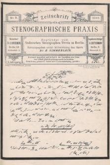 Zeitschrift für Stenographische Praxis. Jg 5, 1888, no.3