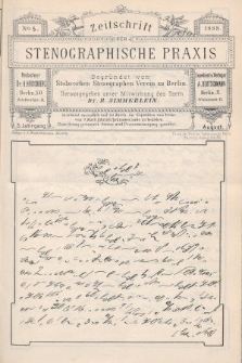 Zeitschrift für Stenographische Praxis. Jg 5, 1888, no.5