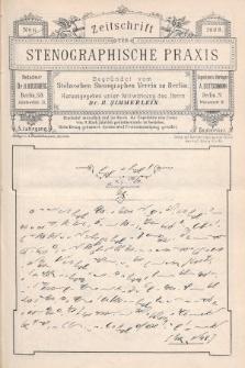 Zeitschrift für Stenographische Praxis. Jg 5, 1888, no.6