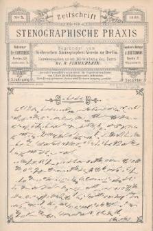 Zeitschrift für Stenographische Praxis. Jg 5, 1888, no.9