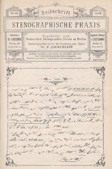 Zeitschrift für Stenographische Praxis. Jg 5, 1889, no.10