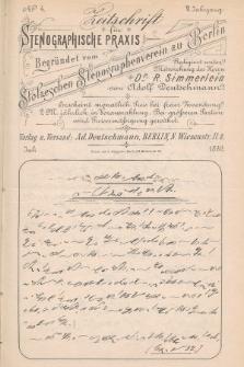 Zeitschrift für Stenographische Praxis. Jg 6, 1889, no.4