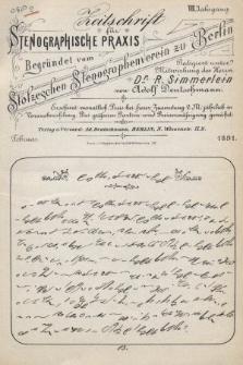 Zeitschrift für Stenographische Praxis. Jg 8, 1891, no.2