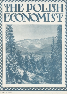 The Polish Economist : a monthly review of trade, industry and economics in Poland. 1931, nr3
