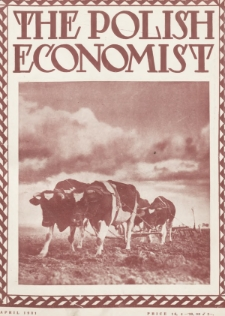The Polish Economist : a monthly review of trade, industry and economics in Poland. 1931, nr4