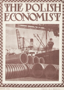 The Polish Economist : a monthly review of trade, industry and economics in Poland. 1931, nr6