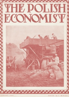 The Polish Economist : a monthly review of trade, industry and economics in Poland. 1931, nr8