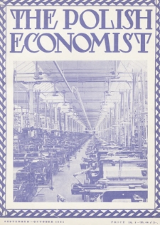 The Polish Economist : a monthly review of trade, industry and economics in Poland. 1931, nr9-10