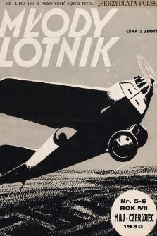 Młody Lotnik : miesięcznik lotniczy : poświęcony wszczególności sportowi ipracy młodzieży. 1930, nr5-6