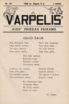 """Varpelis : """"Aido"""" priedas vaikams. 1938, nr10"""