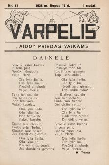 """Varpelis : """"Aido"""" priedas vaikams. 1938, nr11"""