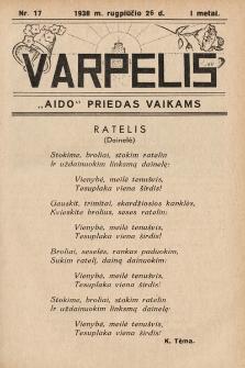 """Varpelis : """"Aido"""" priedas vaikams. 1938, nr17"""