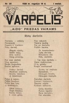 """Varpelis : """"Aido"""" priedas vaikams. 1938, nr20"""