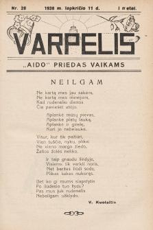 """Varpelis : """"Aido"""" priedas vaikams. 1938, nr28"""