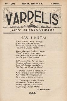 """Varpelis : """"Aido"""" priedas vaikams. 1939, nr1"""