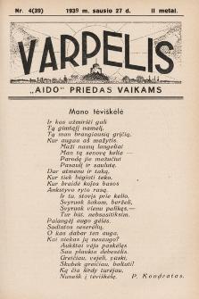 """Varpelis : """"Aido"""" priedas vaikams. 1939, nr4"""