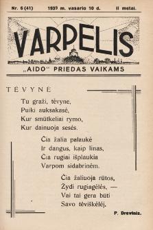 """Varpelis : """"Aido"""" priedas vaikams. 1939, nr6"""