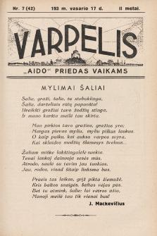 """Varpelis : """"Aido"""" priedas vaikams. 1939, nr7"""