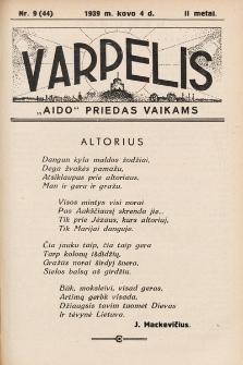 """Varpelis : """"Aido"""" priedas vaikams. 1939, nr9"""