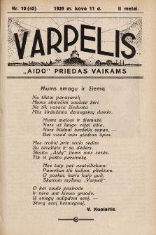 """Varpelis : """"Aido"""" priedas vaikams. 1939, nr10"""