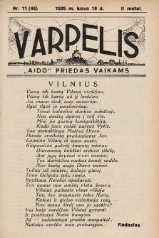"""Varpelis : """"Aido"""" priedas vaikams. 1939, nr11"""
