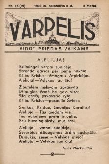 """Varpelis : """"Aido"""" priedas vaikams. 1939, nr14"""