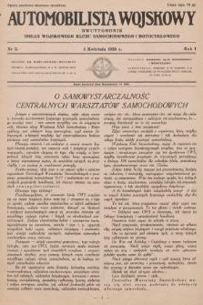 Automobilista Wojskowy : dwutygodnik : organ Wojskowego Klubu Samochodowego i Motocyklowego. 1926, nr3