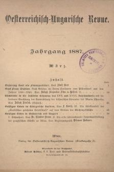Oesterreichisch-Ungarische Revue. Jg. [1], 1887, Bd. 2, Heft[12]