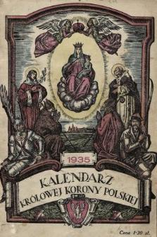 Kalendarz Królowej Korony Polskiej na Rok Pański 1935