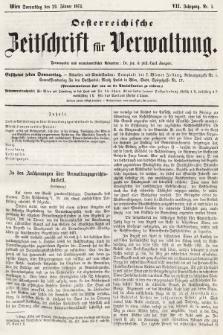 Oesterreichische Zeitschrift für Verwaltung. Jg. 7, 1874, nr5