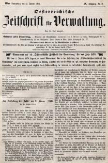 Oesterreichische Zeitschrift für Verwaltung. Jg. 9, 1876, nr2