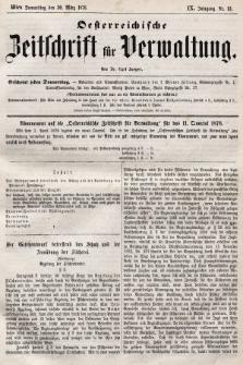 Oesterreichische Zeitschrift für Verwaltung. Jg. 9, 1876, nr13