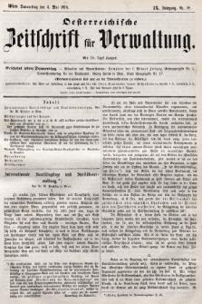 Oesterreichische Zeitschrift für Verwaltung. Jg. 9, 1876, nr18